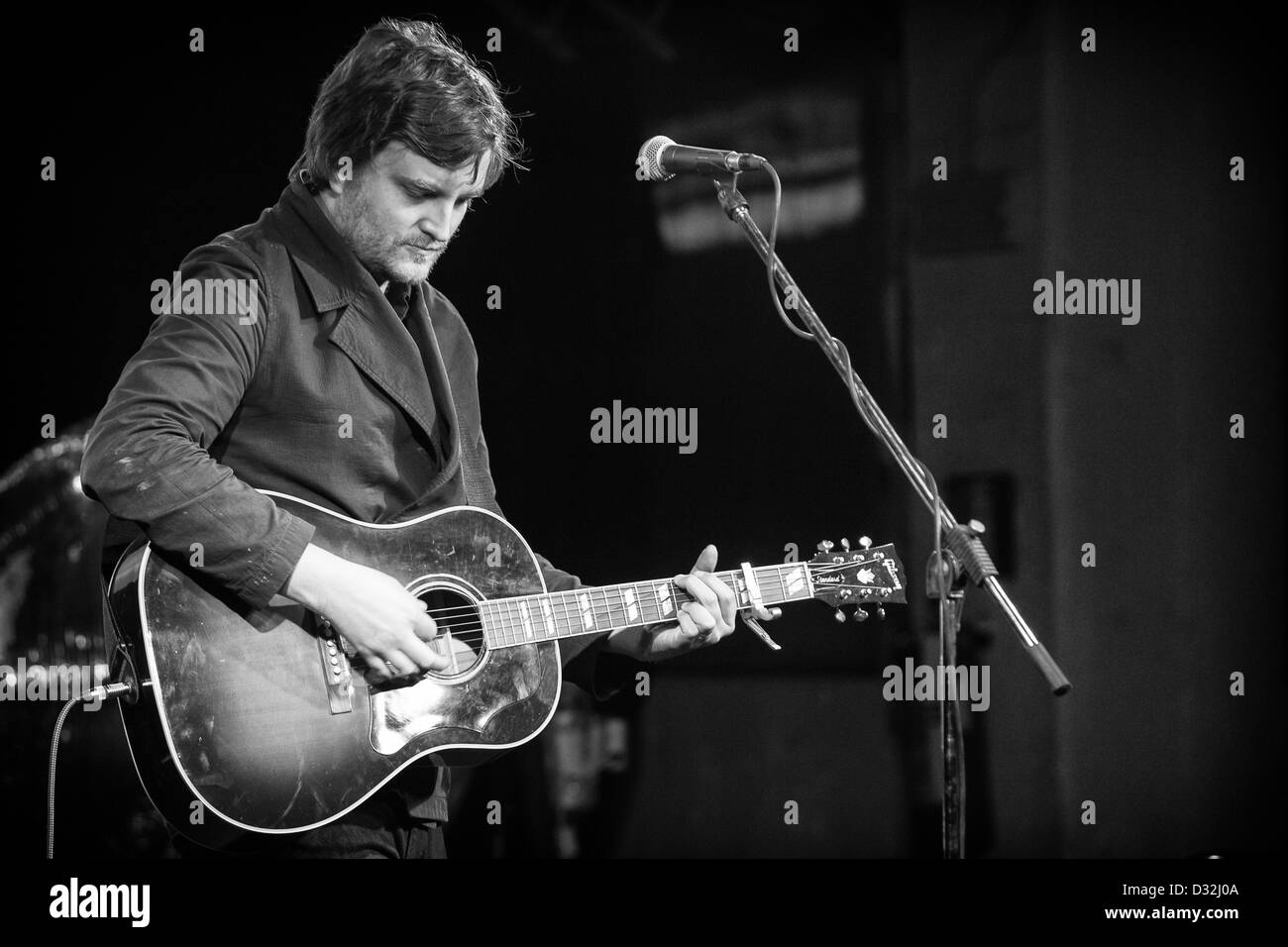 February 05, 2013 - James Walsh, songwriter and ex frontman of Starsailors, live at the OCA, Milan, Italy - Stock Image