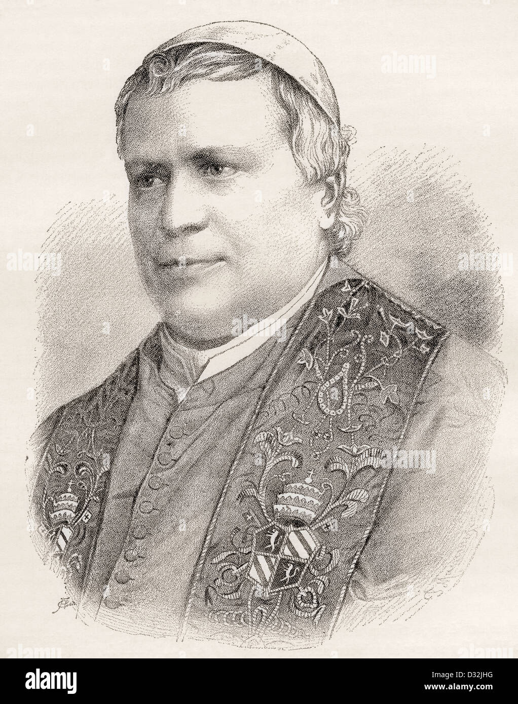 Pope Pius IX, born Giovanni Maria Mastai-Ferretti, 1792 –1878. - Stock Image