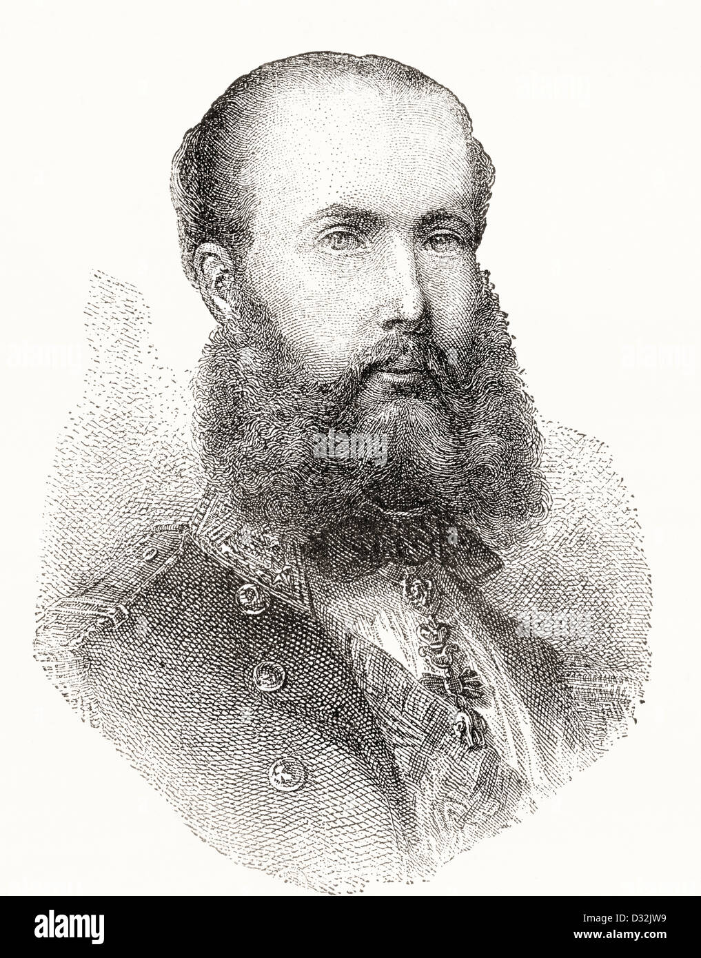 Maximilian I, 1832 –1867. The only monarch of the Second Mexican Empire. - Stock Image