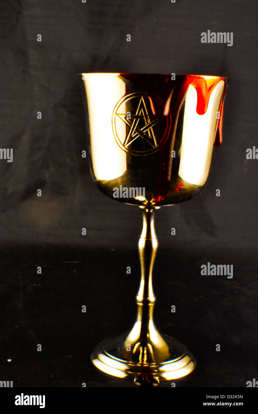 chalice with blood - Stock Image