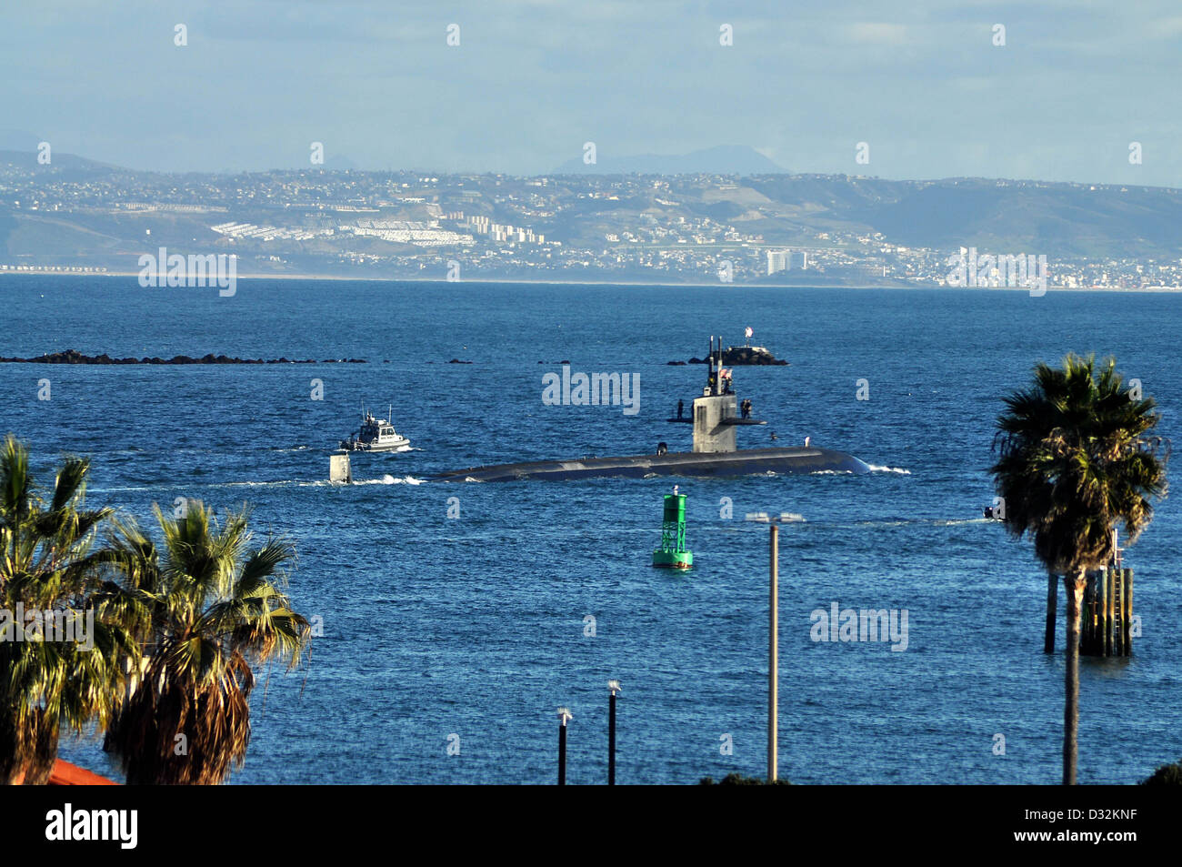 The attack submarine USS Albuquerque (SSN 706) - Stock Image