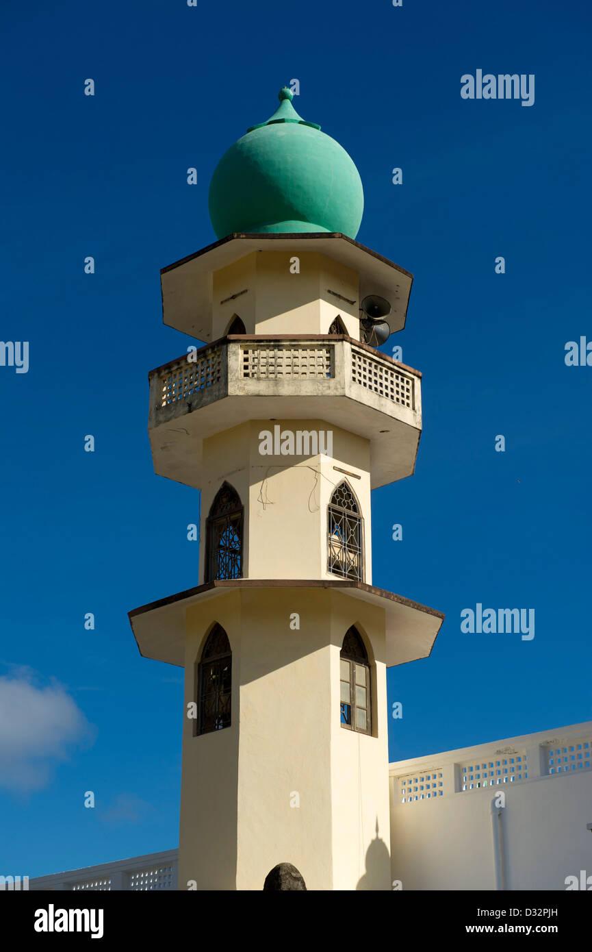 Minaret of Juma Mosque, Malindi, Kenya - Stock Image