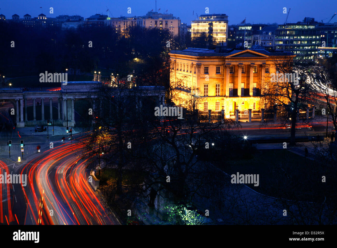 Apsley House and Hyde Park Screen on Hyde Park Corner, London, UK - Stock Image