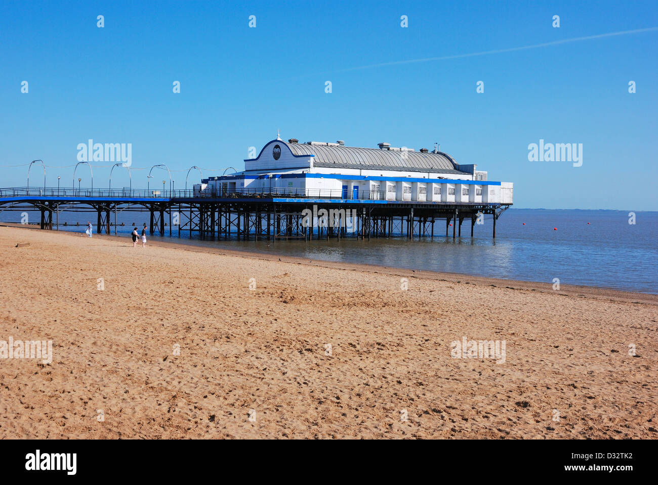 Cleethorpes  beach and pier lincolnsire england uk Stock Photo