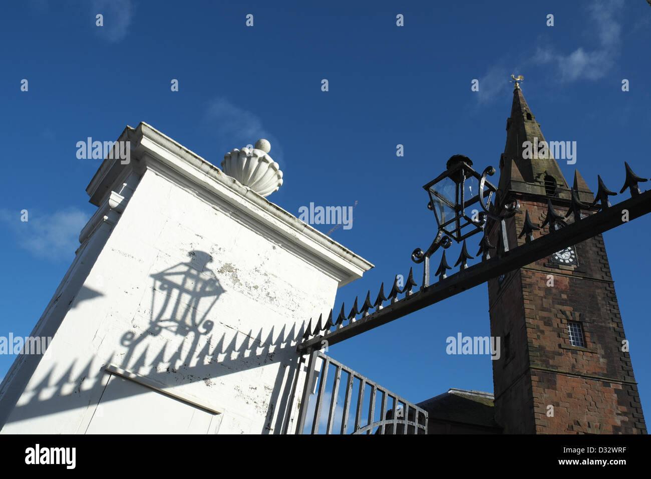 St Michael's South Church, Dumfries, SW Scotland, Britain, Home of Robert Burns Mausoleum Stock Photo