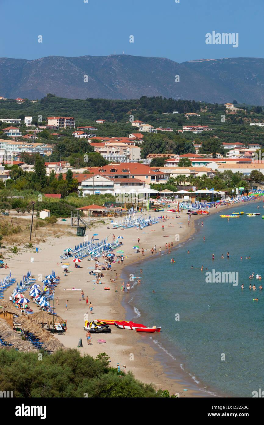 View over Tsilivi beach Stock Photo