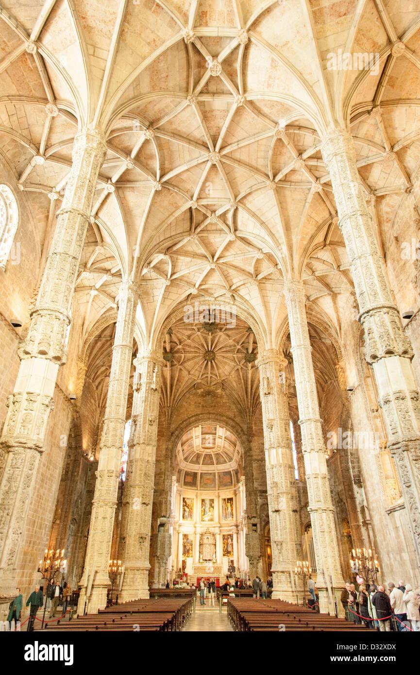 Jeronimos Monastery, Lisbon, Portugal - Stock Image