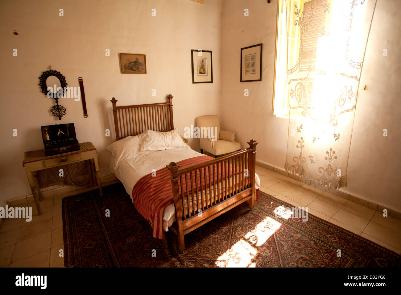 Bedroom At The Howard Carter House Museum In Luxor Egypt Stock Photo Alamy