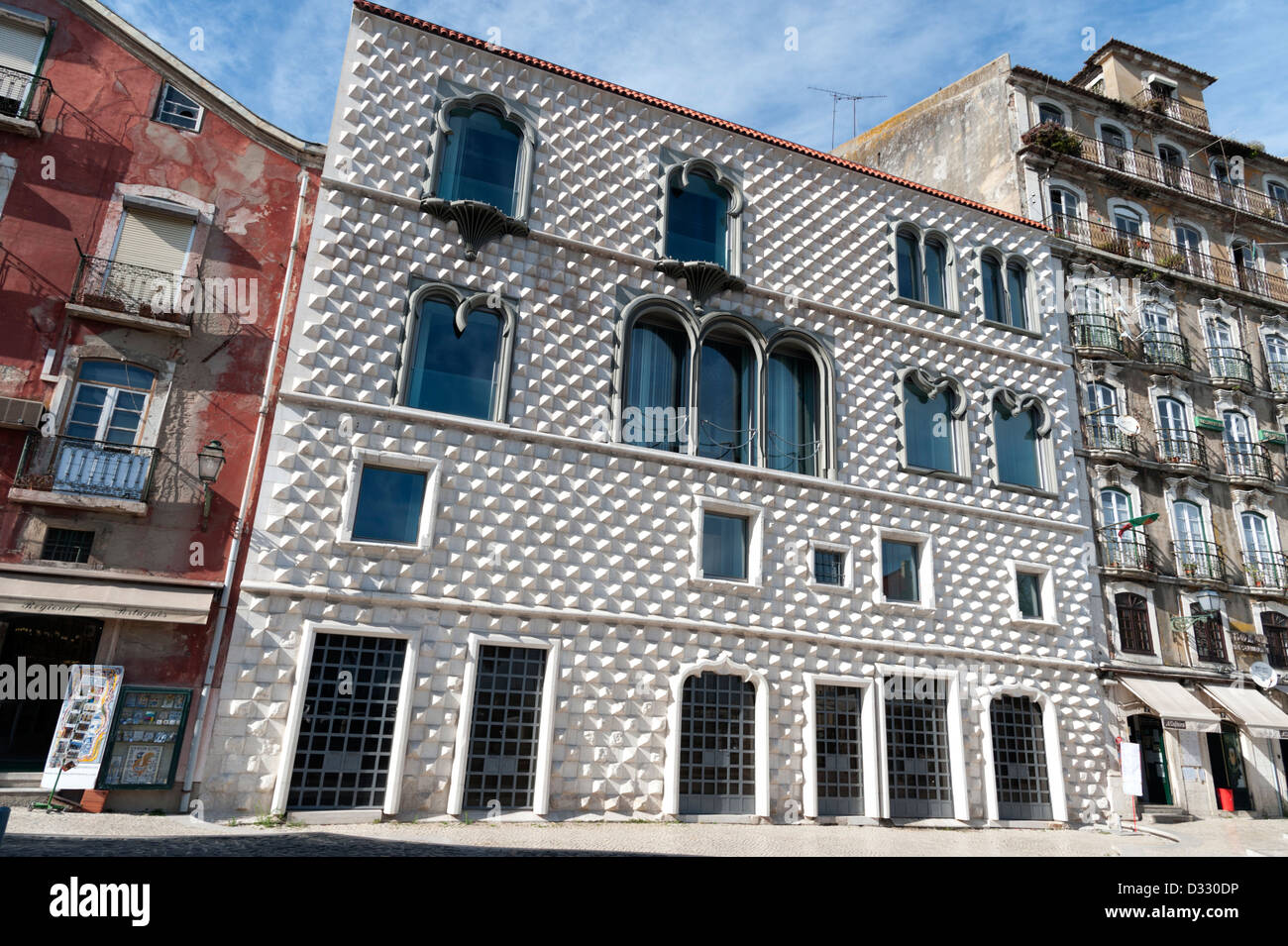 The Casa dos Bicos, Lisbon, Portugal - Stock Image