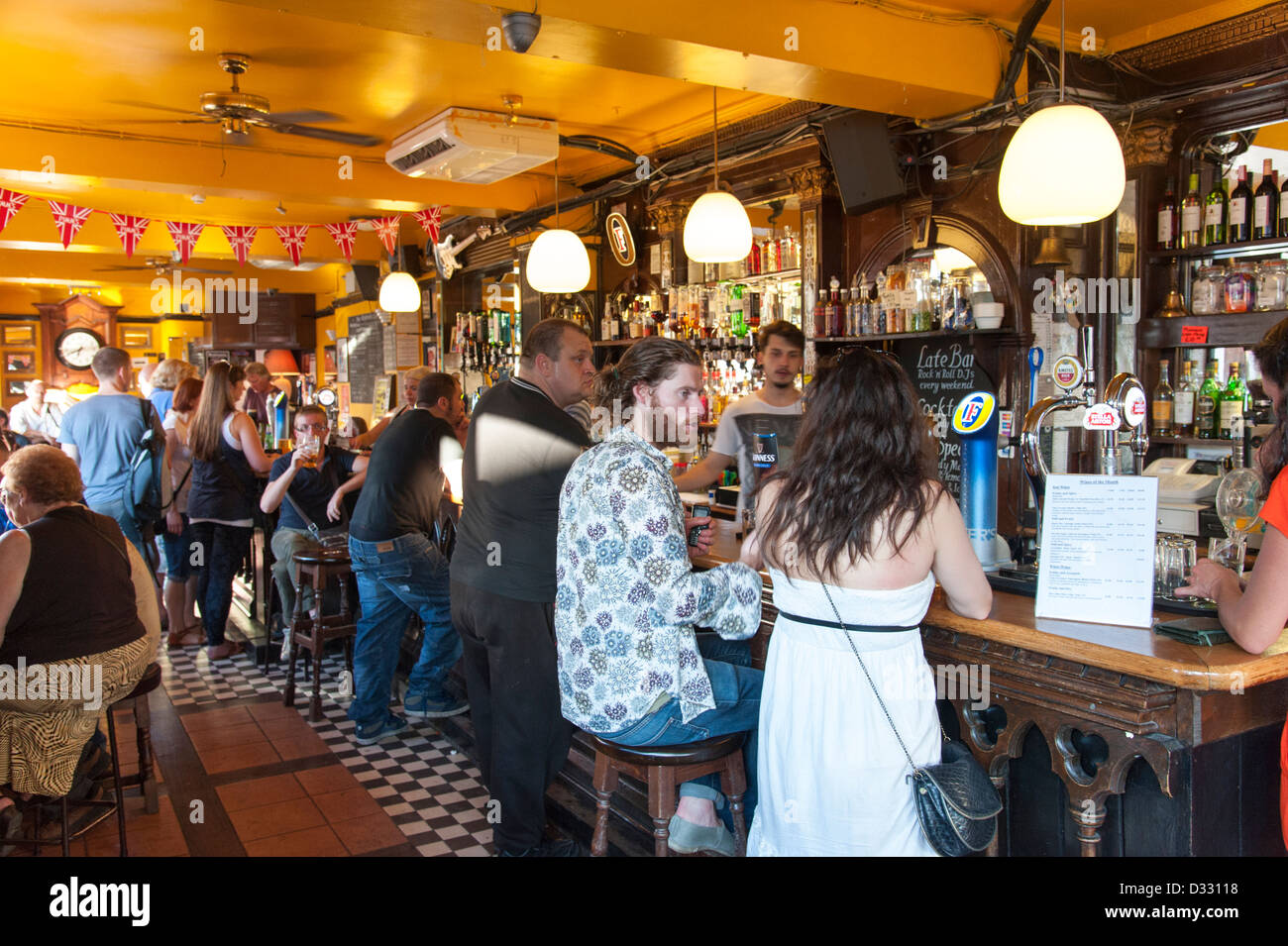 The Elephants Head pub in Camden Town, London, England, UK - Stock Image