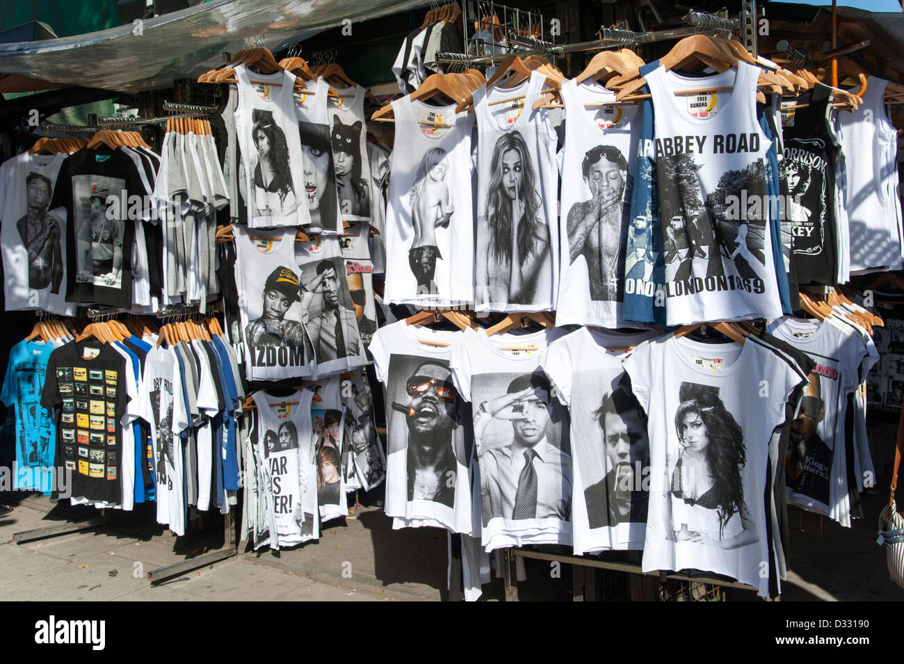 Trendy Printed T Shirts Showing Famous People For Sale On Camden