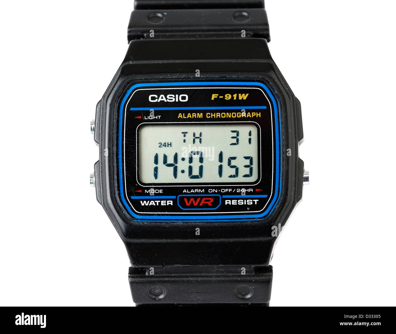 Casio digital wristwatch - Stock Image