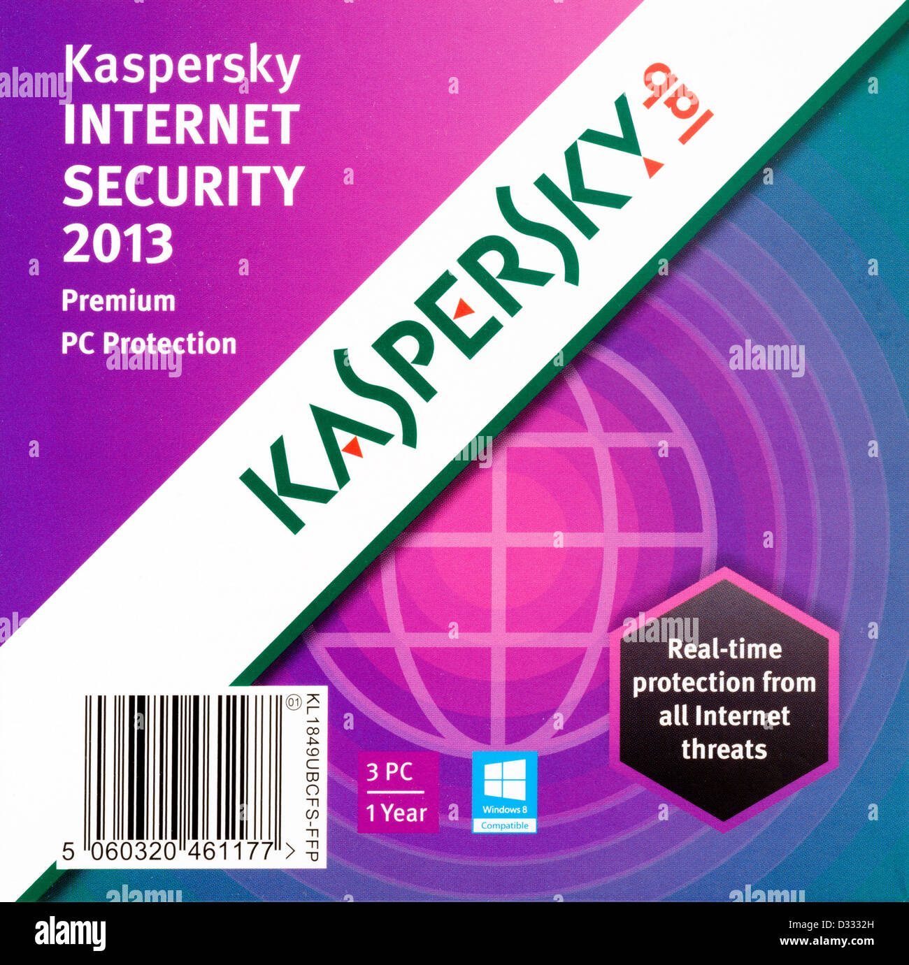Kaspersky Internet Security 2013 anti virus software - Stock Image