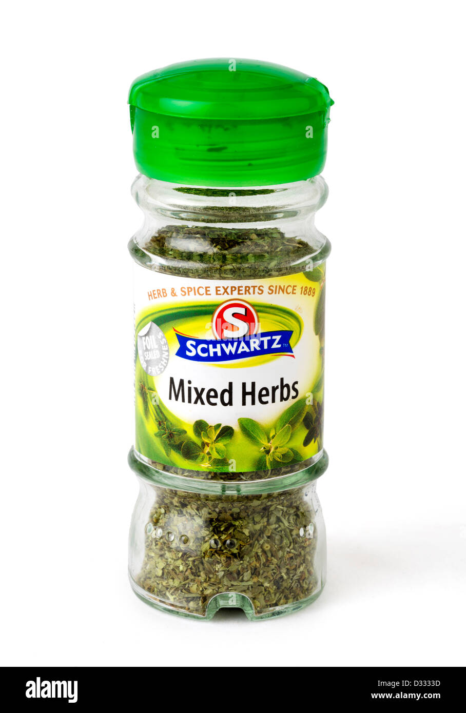 Jar of Schwartz Mixed Herbs, UK - Stock Image