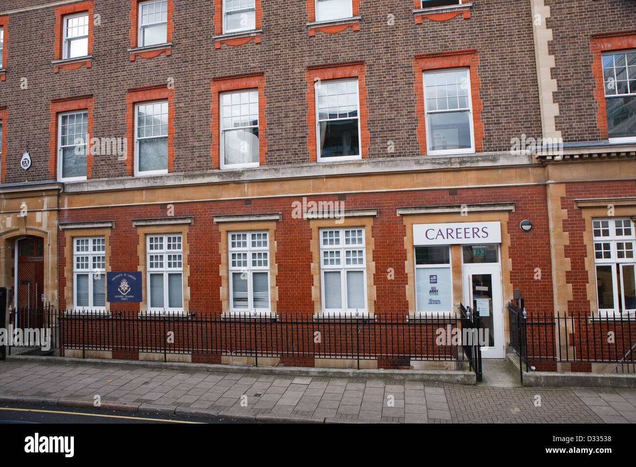 Intelligence & Security Group T.A. Centre in Handel Street London - Stock Image