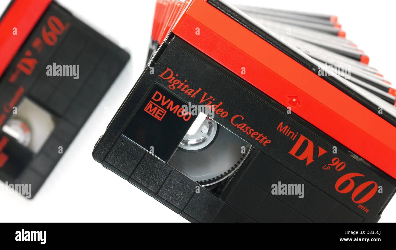 Mini Digital Video Cassette or Mini DV - Stock Image