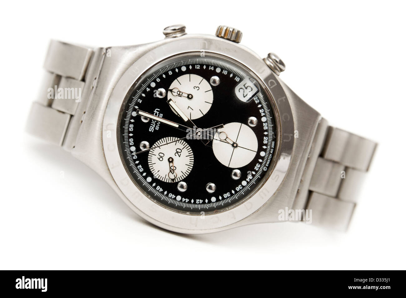 Rare Swatch Irony stainless steel watch from the millennium year collection (2000) - Stock Image