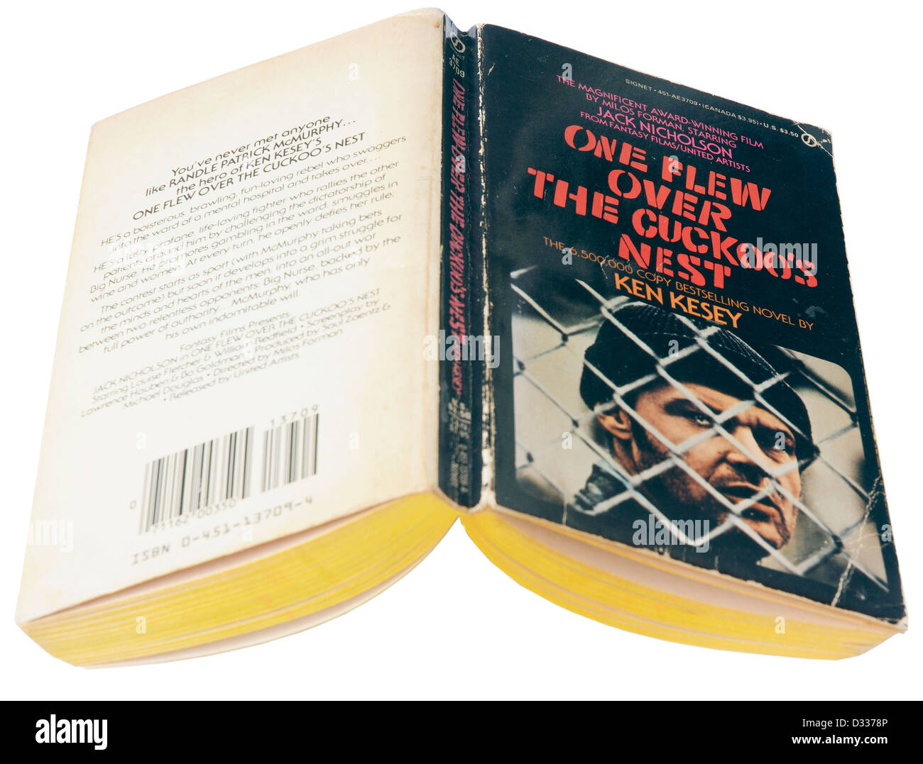 One Flew Over the Cuckoo's Nest by Ken Kesey Stock Photo