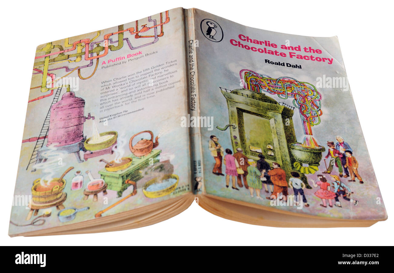 Charlie and the Chocolate Factory by Roald Dahl Stock Photo
