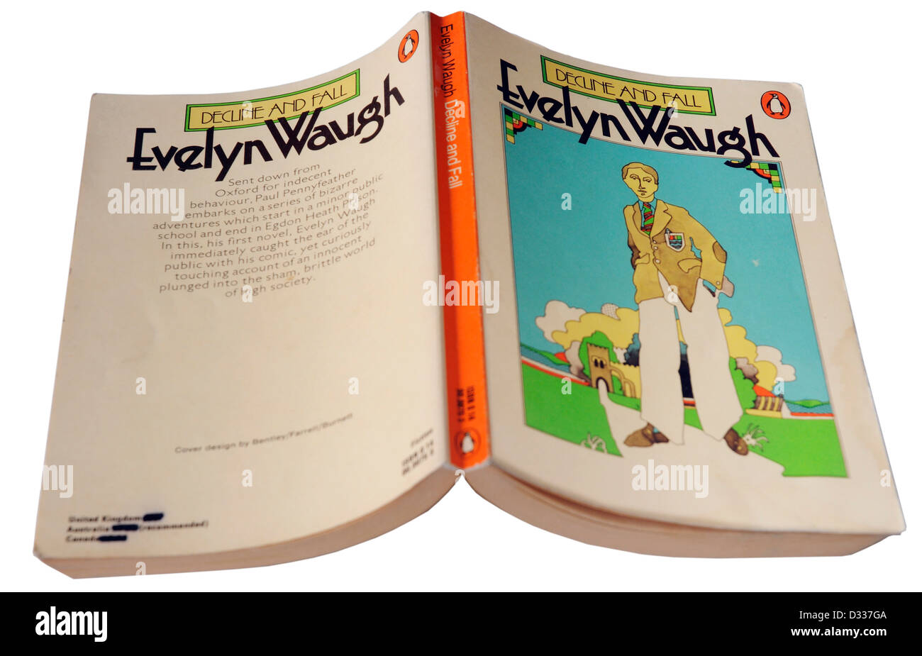 Decline and Fall by Evelyn Waugh - Stock Image
