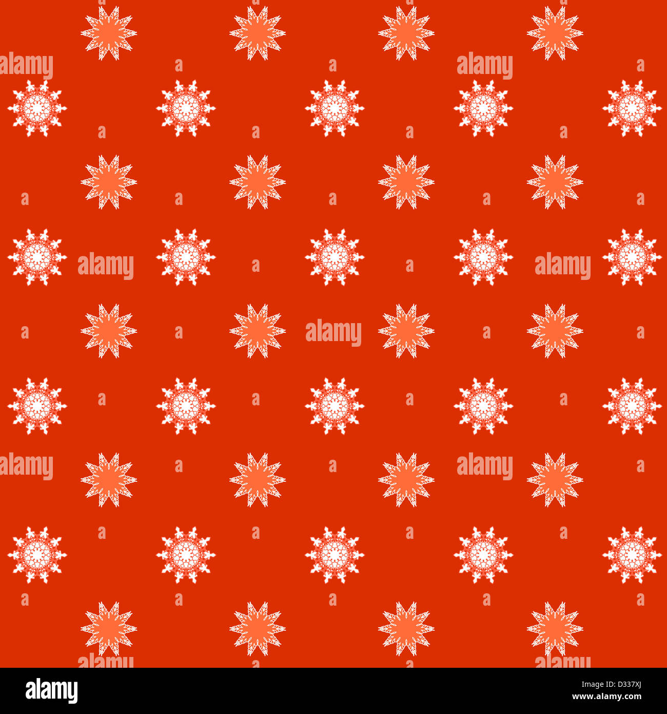 Artistic floral pattern on orange Stock Photo