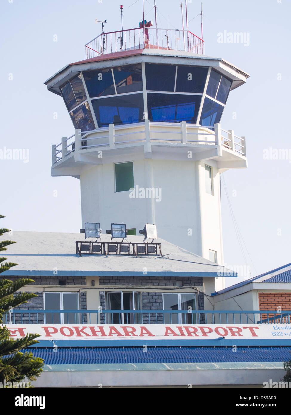 Pokhara airport, Nepal - Stock Image