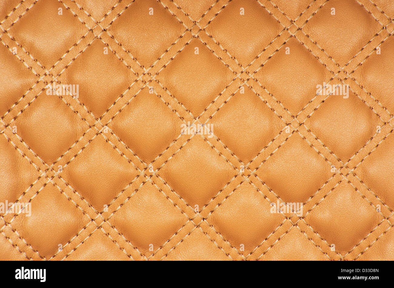 Sepia picture of genuine leather upholstery - Stock Image