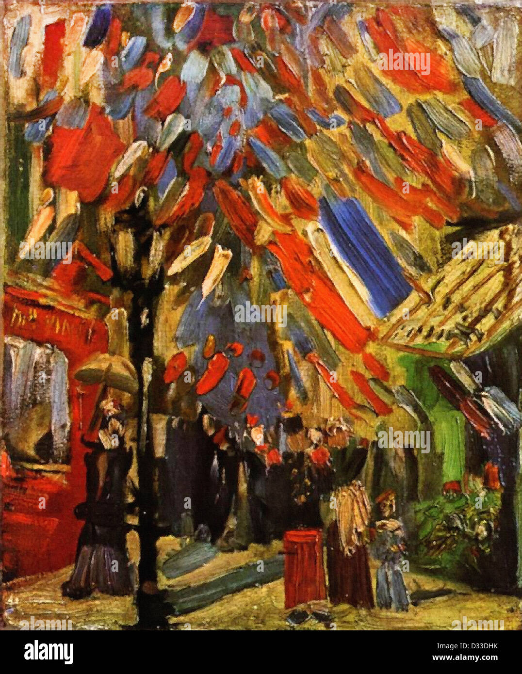 Vincent van Gogh: The Fourteenth of July Celebration in Paris. 1886. Oil on canvas. Private Collection. Post-Impressionism. - Stock Image