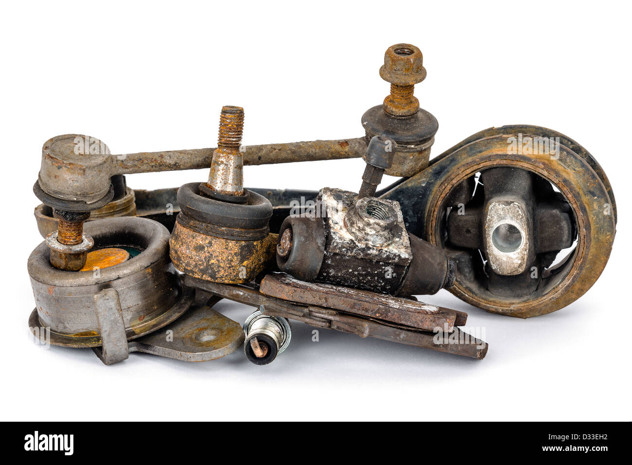 Worn out auto parts - Stock Image
