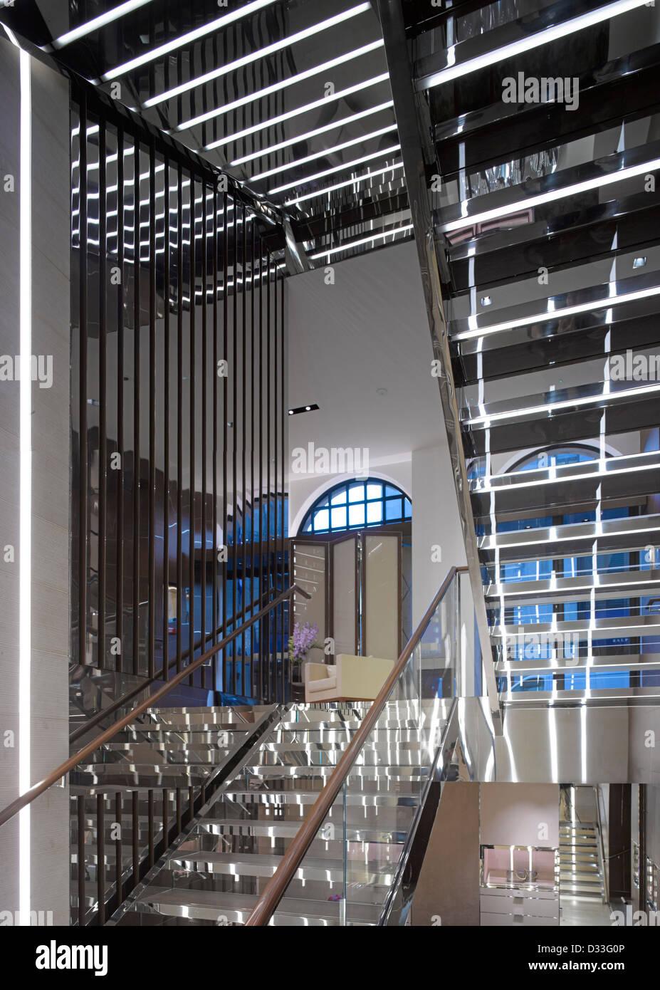 Salvatore Ferragamo Bond Street, London, United Kingdom. Architect: MPA Architects, 2012. - Stock Image