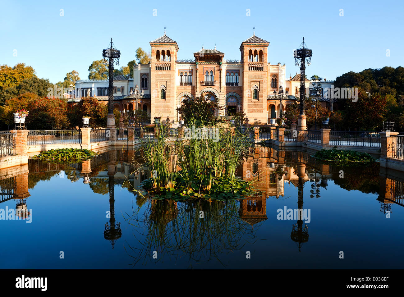 beautiful Plaza Amerika in Seville, spain - Stock Image