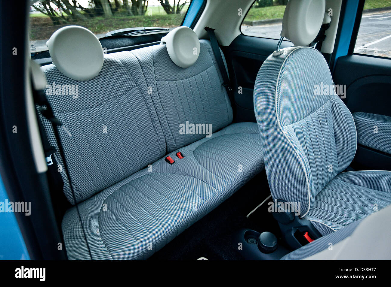 Passenger seat in the Fiat 500 Twin Air, Winchester, UK, 22 11 20110 Stock Photo
