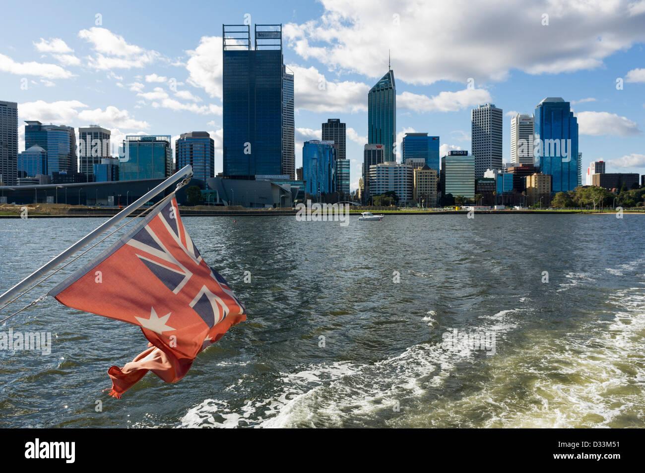The Swan River in Perth, Western Australia - Stock Image
