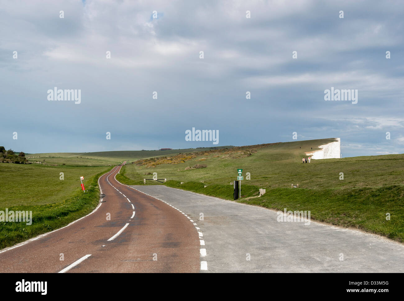 Road past Beachy Head, East Sussex, England, UK - Stock Image