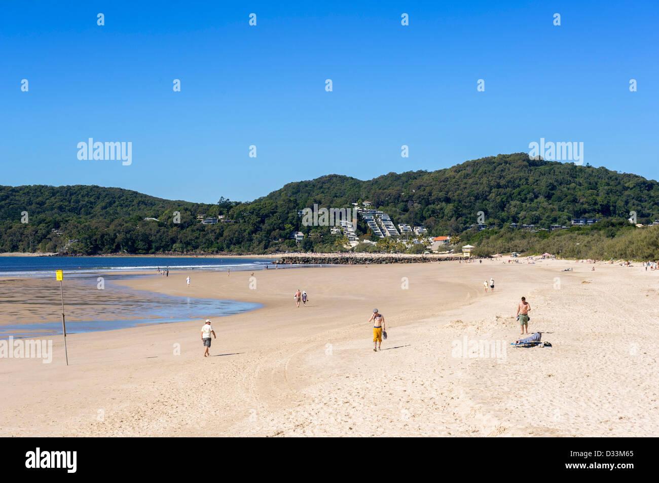 Noosa Beach on the Sunshine Coast in Queensland, Australia - Stock Image