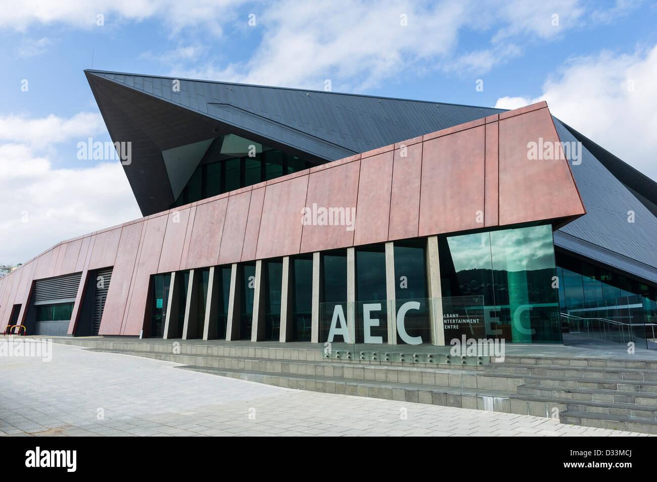 The exterior of the Albany Entertainment Centre in Albany, Western Australia - Stock Image