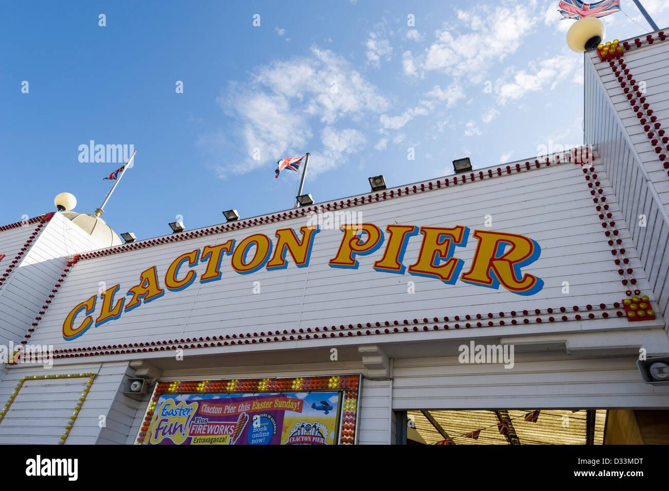 Clacton Pier in Essex, England, UK - Stock Image