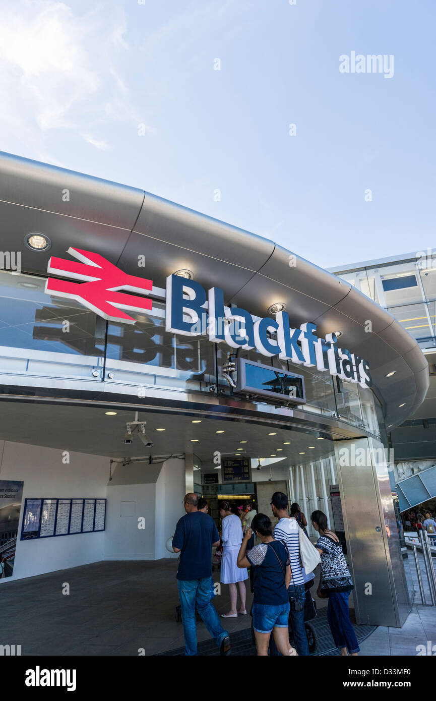 Blackfriars Station in London - Stock Image