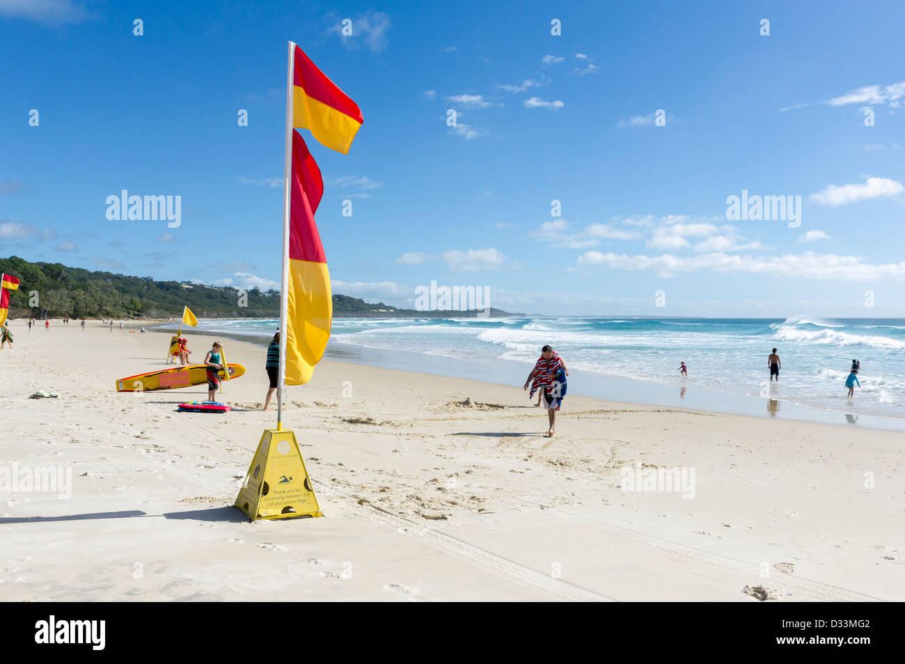 Cylinder Beach on North Stradbroke Island in Queensland, Australia - Stock Image