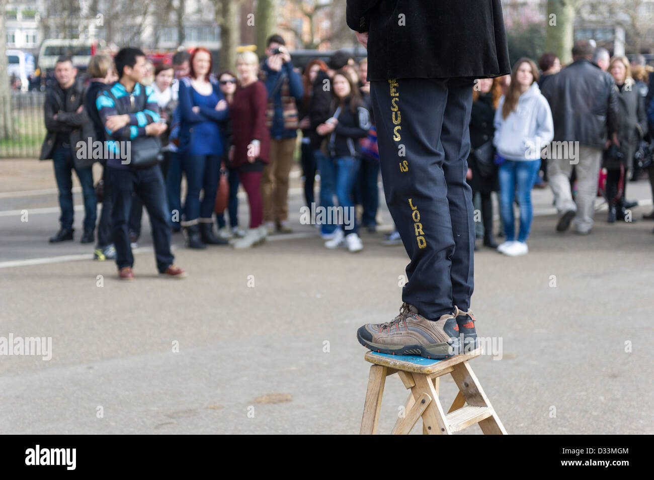 Speakers Corner in Hyde Park in London - Stock Image