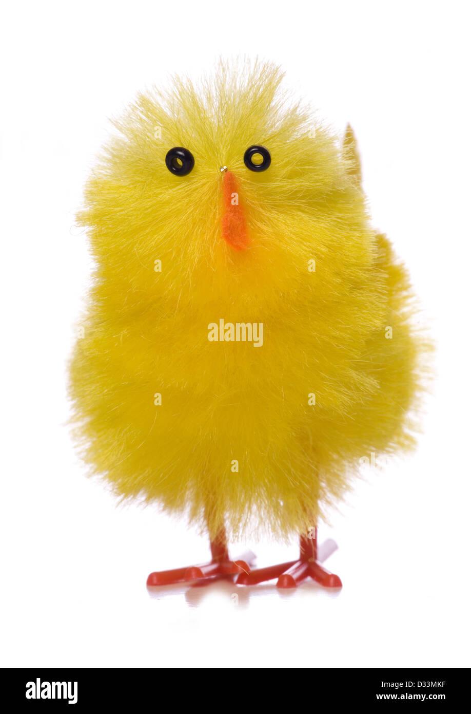 Single easter chick decoration studio cutout - Stock Image