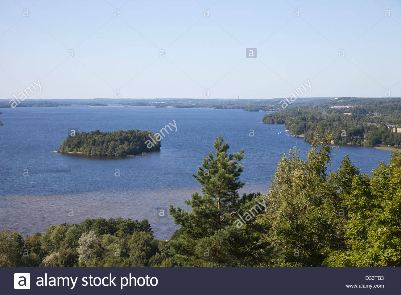 view of the lake pyhajarvi,tampere,finland,europe - Stock Image