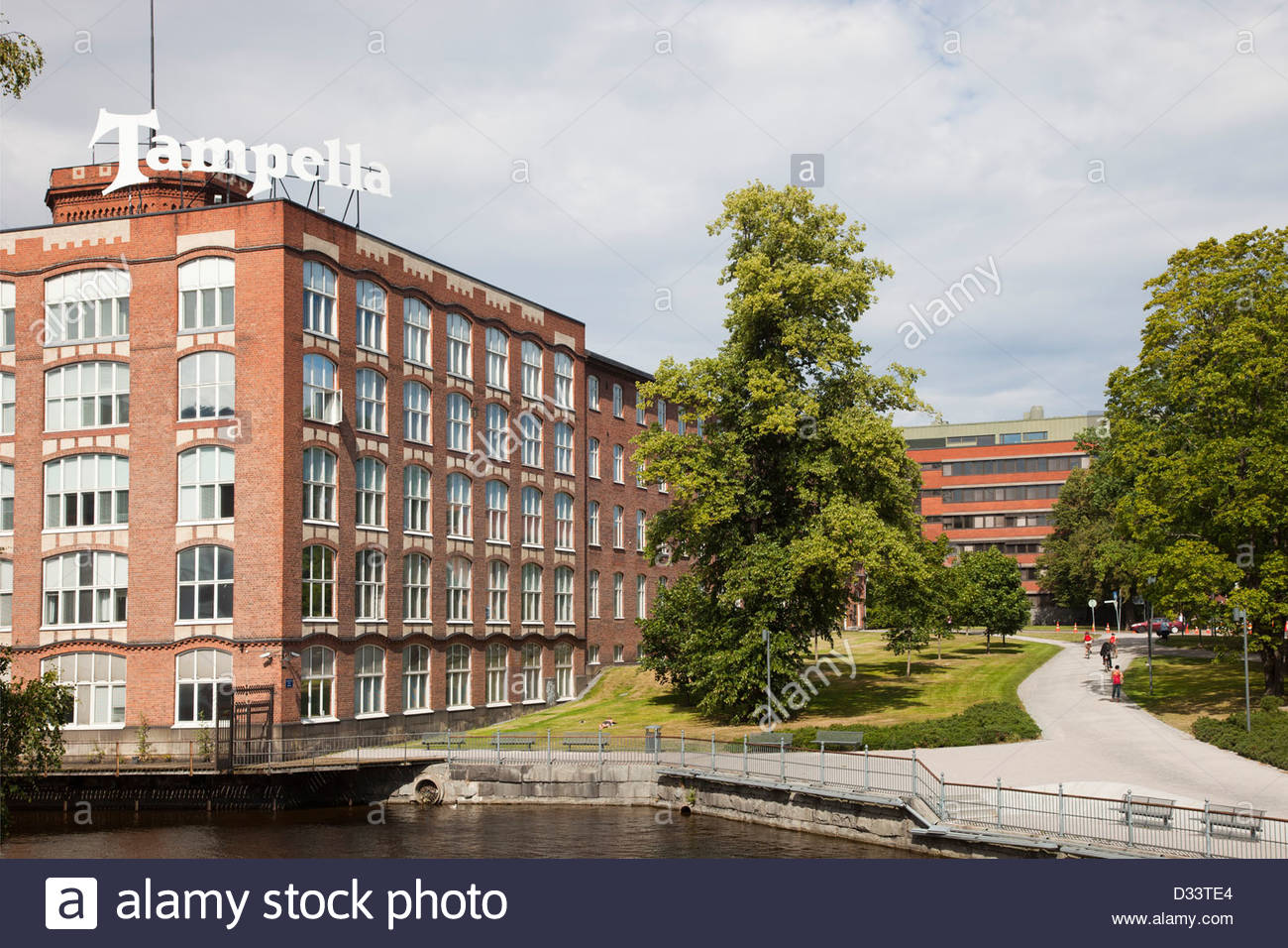tampella,old linen factory,tampere,finland,europe Stock Photo
