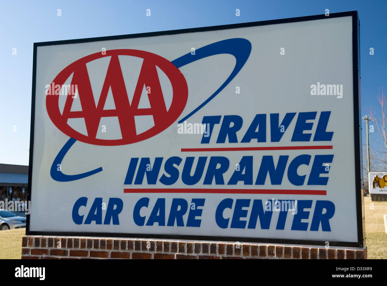 AAA Travel Insurance Car Care Center sign USA Stock Photo: 53561965