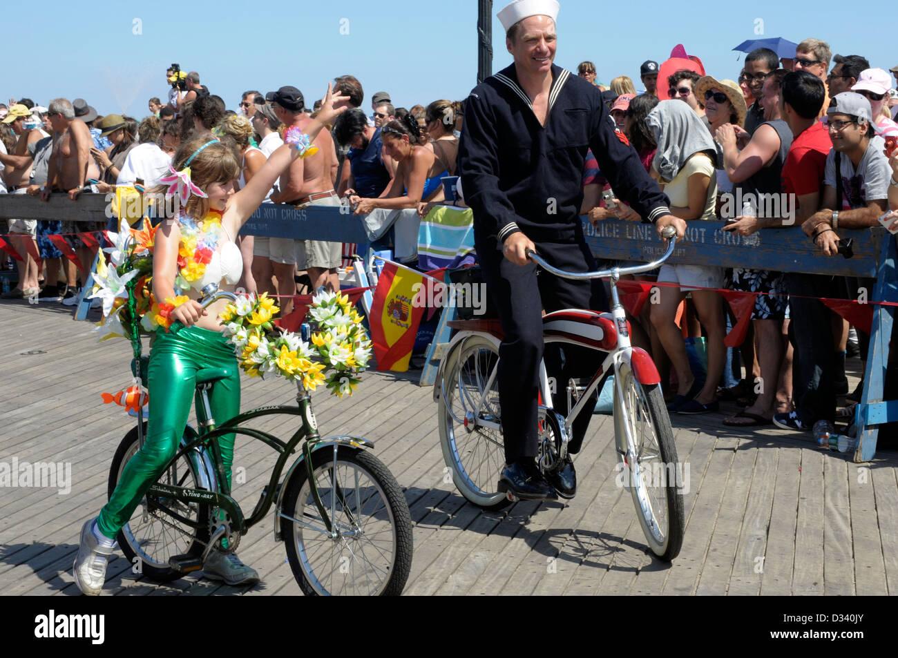 Coney Island Mermaid Parade: The parade pays homage to the Coney Island Mardi Gras parades of the early 20th century. Stock Photo