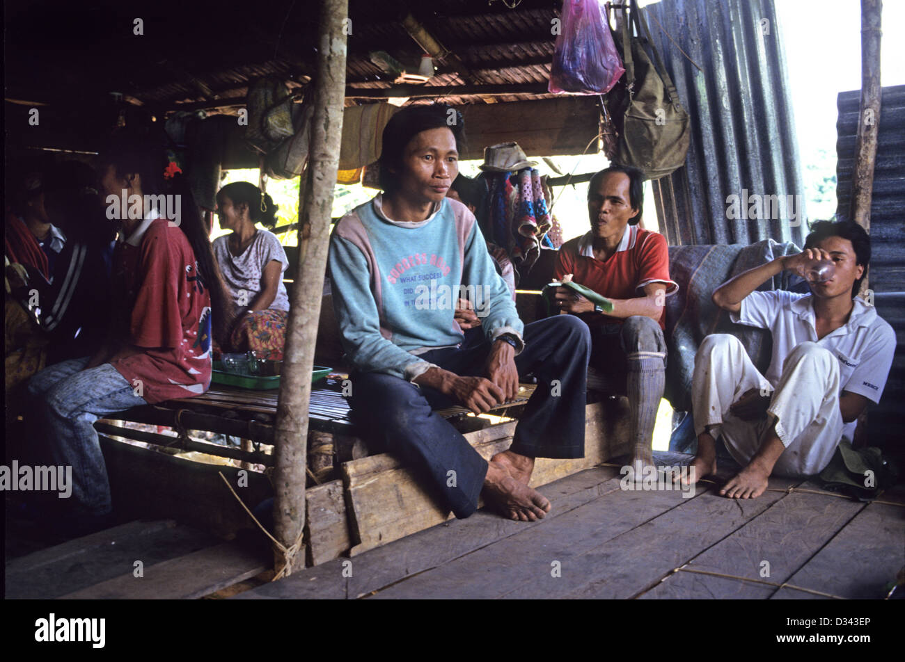 People of the Murat hill tribe in Malaysia - Stock Image