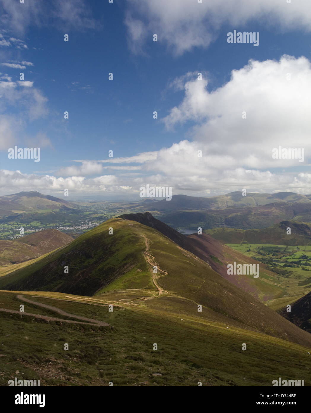 Scar Crags and Causey Pike from Sail in the Lake District Stock Photo