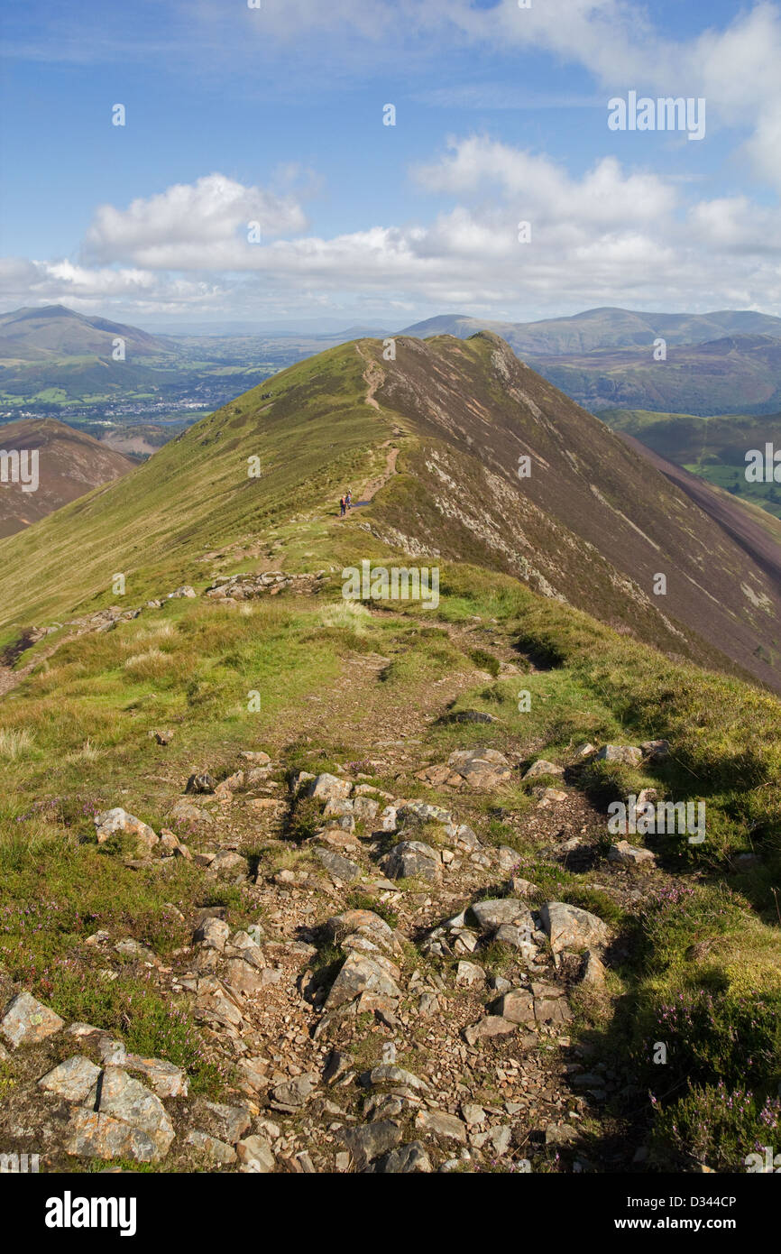 The track to Causey Pike over Scar Crags in the Lake Listrict Stock Photo
