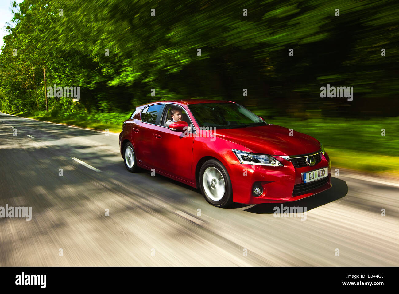 James Martin test drives the Lexus CT 200h hatchback, Winchester, UK, 13 05 2010 - Stock Image