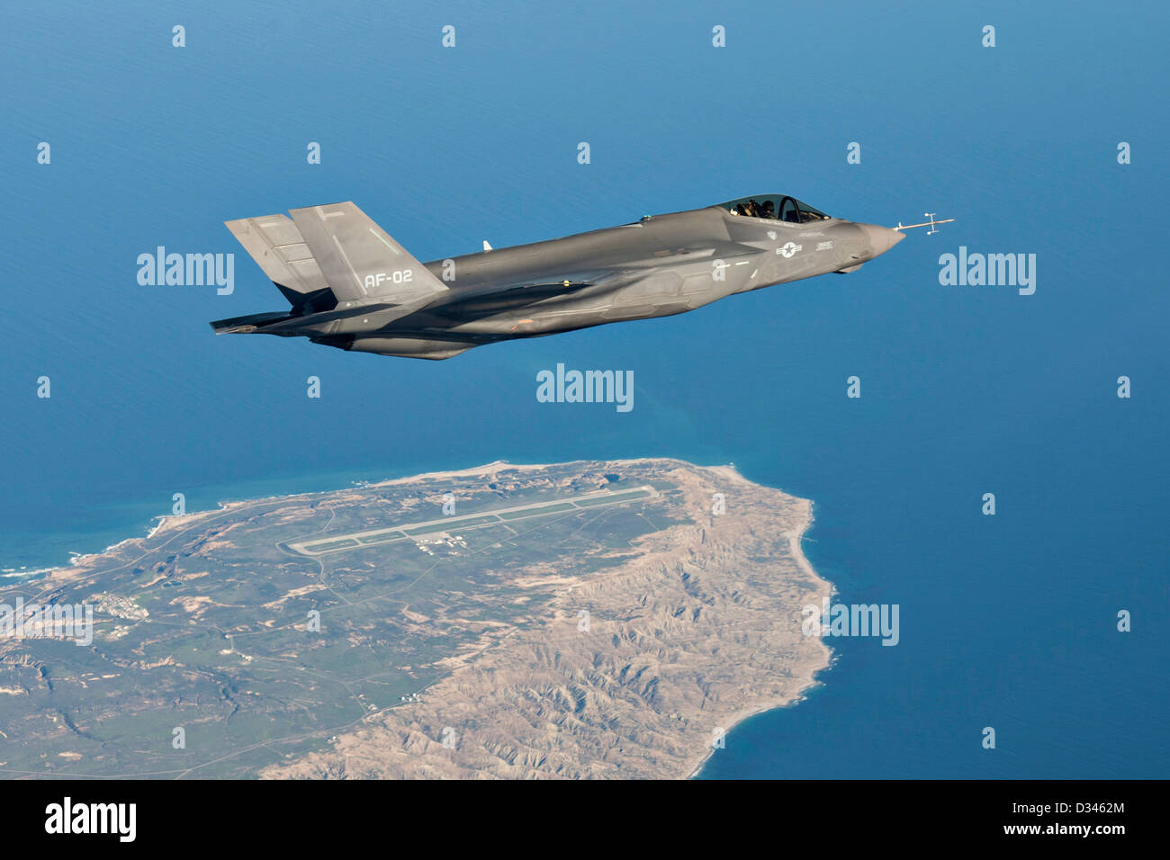 US Air Force F-35 Joint Strike Fighter aircraft December 19, 2012 at Edwards Air Force Base, CA. - Stock Image